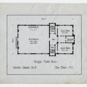 Graded School Number 3 -- Second floor plan