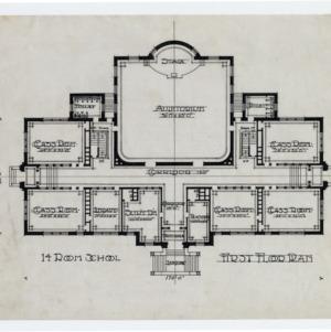 Scotland Neck School Building -- First floor plan