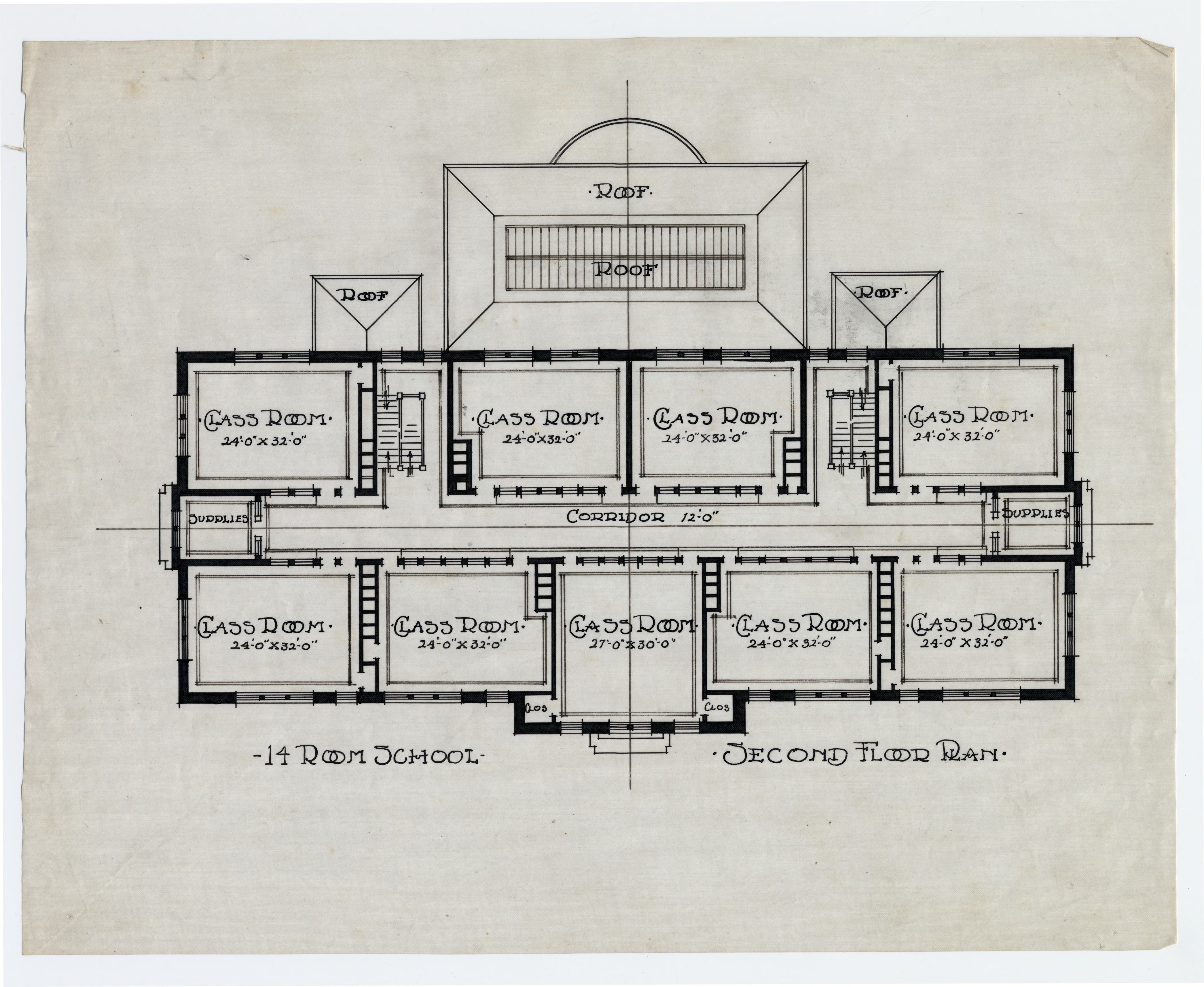 Second Floor Plan School Building Scotland Neck N C