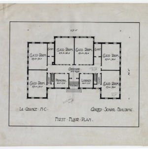 LaGrange Graded School Building -- First floor plan