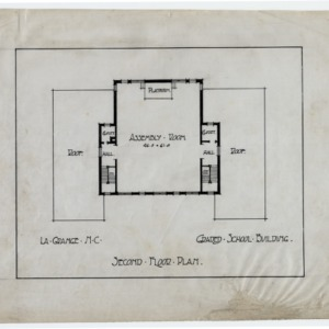 LaGrange Graded School Building -- Second floor plan