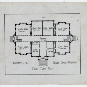 Kinston Graded School Building (Lewis School) -- First floor plan