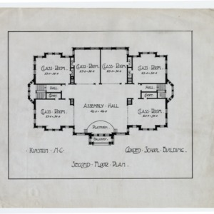 Kinston Graded School Building (Lewis School) -- Second floor plan
