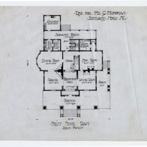 Gerson Hoffman House -- First floor plan