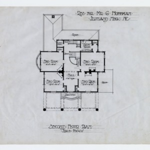 Gerson Hoffman House -- Second floor plan