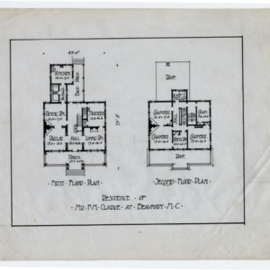 F. M. Clarke House -- First floor plan, second floor plan