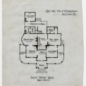 J. W. Braxton House -- First floor plan