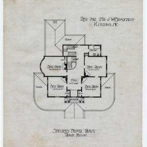J. W. Braxton House -- Second floor plan