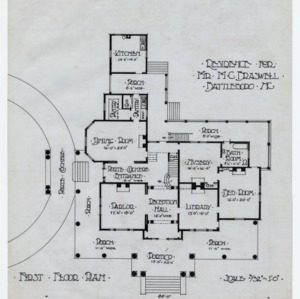 M. C. Braswell House -- First floor plan