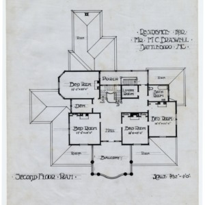M. C. Braswell House -- Second floor plan
