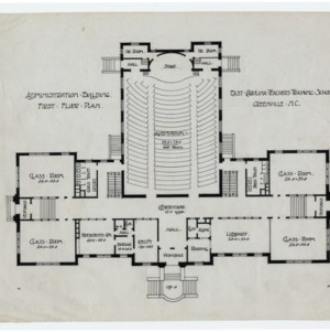 East Carolina Teachers Training School Administration Building -- First floor plan