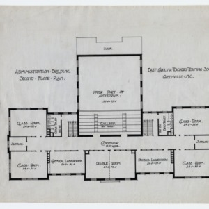East Carolina Teachers Training School Administration Building -- Second floor plan