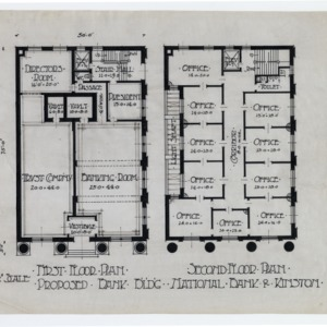 Kinston Branch Banking and Trust -- First floor plan, second floor plan