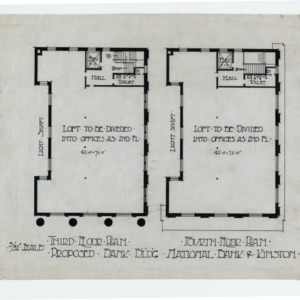 Kinston Branch Banking and Trust -- Third floor plan, fourth floor plan