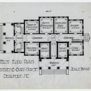 Carteret County Courthouse -- First floor plan