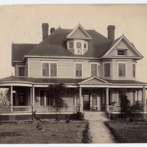 Front view, unidentified house