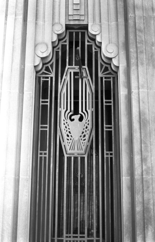Entrance details snow building snow building durham n for Art deco architectural details