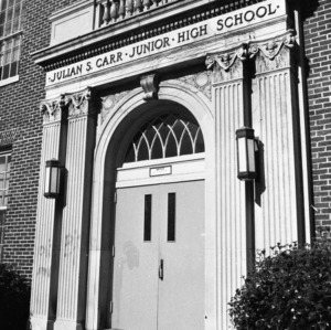 Entrance, Julian S. Carr, Jr., High School