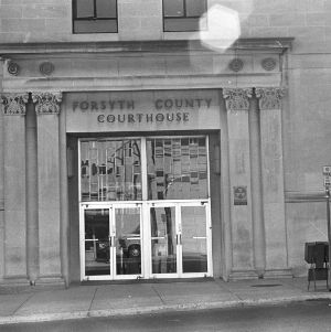 Entryway, Forsyth County Courthouse