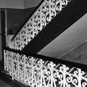 Interior Stairway and Railing, Forsyth County Courthouse
