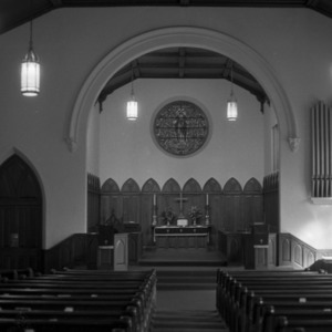 Sanctuary and Altar, First Baptist Church