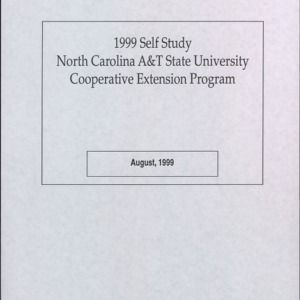 1999 Self Study North Carolina A&T State University Cooperative Extension Program