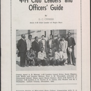 4-H Club Leader's and Officer's Guide