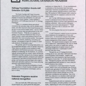 Accomplishment Report -- 1990 Agricultural Extension Program