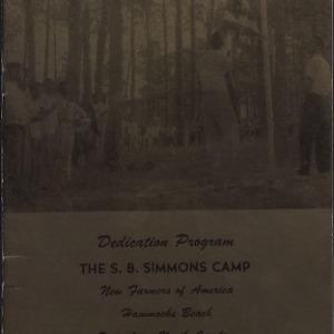 Dedication Program the S.B. Simmons Camp