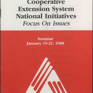 Cooperative Extension System National Initiatives Focus on Issues Seminar