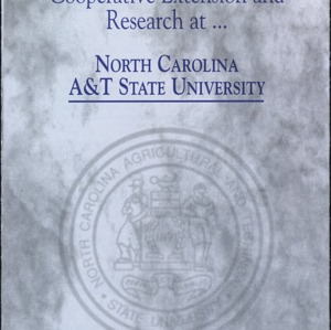 Cooperative Extension and Research at North Carolina A&T State University