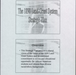 The 1890 Land-Grant System Strategic Plan
