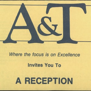 A&T Invites You to a Reception