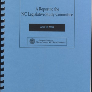 A Report to the NC Legislative Study Committee