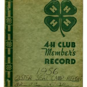 1956 4-H Easter Seal Camp Report