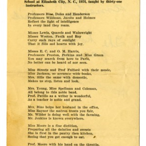 Poem and Minutes of North Carolina Negro Farmers' Congress Annual Sessions