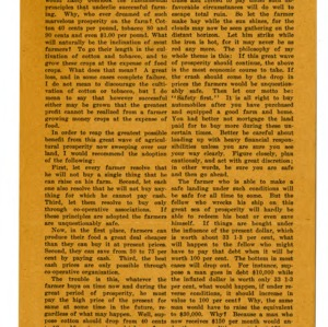 Article on fundamental principles about farming; Letters showing effects of club work; Expense sheet for Negro Farmers' Congress meeting; Template for ribbon