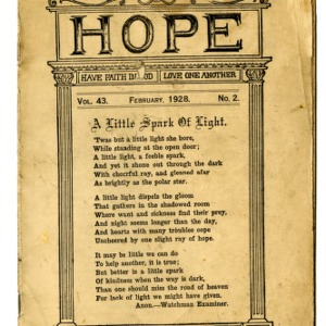 Hope, have faith in God; Love one Another, vol. 43 no.2