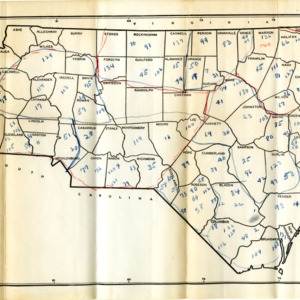 Map of NC Counties