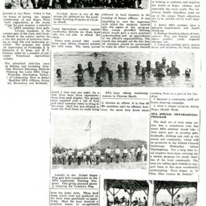 "Newspaper article, ""Rural Life Activities Make Strides"""