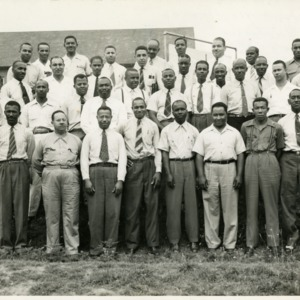 Group Photo of District Meeting of Agriculture Teachers, June 9,10,11, 1943