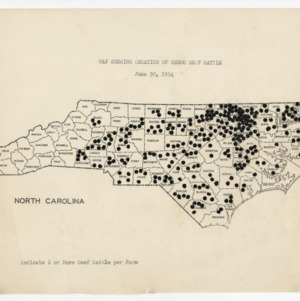 Location of Beef Cattle on Negro Farms in North Carolina