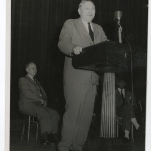 A Photograph of an Unidentified Man Giving a Speech