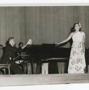 A Photograph of an Unidentified Women Performing
