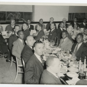 A Photograph of Unidentified NFA Member at a Banquet