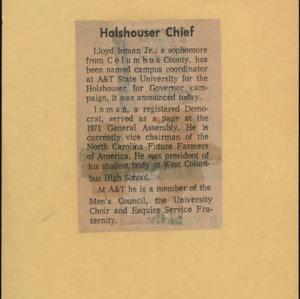 Holshouser Chief