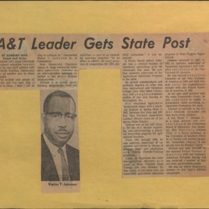 A&T Leader Gets State Post