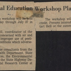 Environmental Education workshop planned at A&T