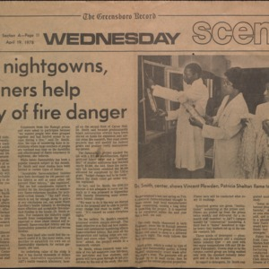 Frilly nightgowns, prisoners help study of fire danger
