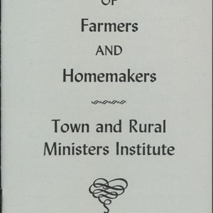 Program State Conference of Farmers and Homemakers Town and Rural Ministers Institute